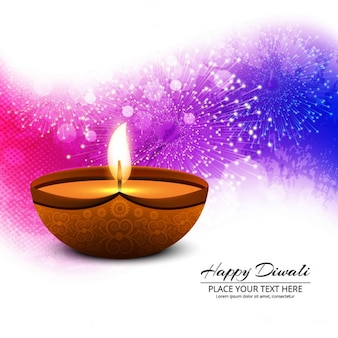 Fondo abstracto de diwali de fuegos artificales