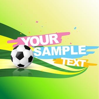 Fondo abstracto de fútbol con espacio para texto