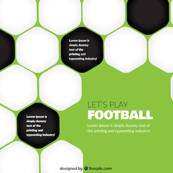Fondo abstracto de fútbol