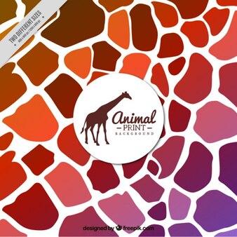 Fondo abstracto de jirafa