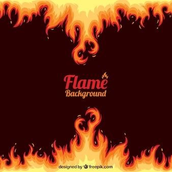 Fondo abstracto de llamas