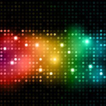 Fondo abstracto de luces de colores brillantes