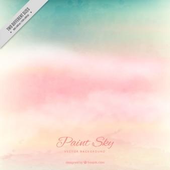 Fondo abstracto de nubes rosas en tonos pastel