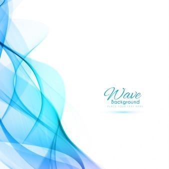 Fondo abstracto de onda azul