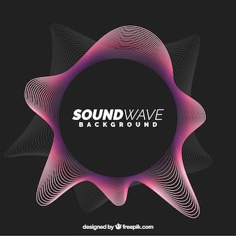Fondo abstracto de onda sonora
