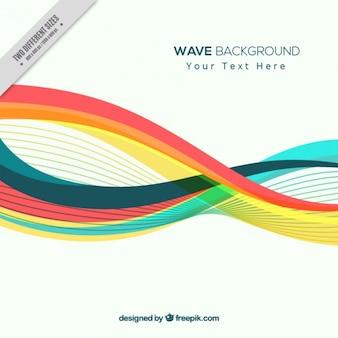 Fondo abstracto de ondas coloridas