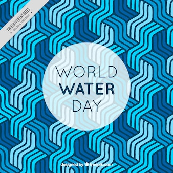 Fondo abstracto de rayas del día del agua