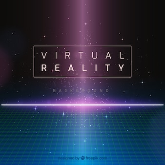 Fondo abstracto de realidad virtual