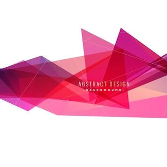 Fondo abstracto de triángulos rosa