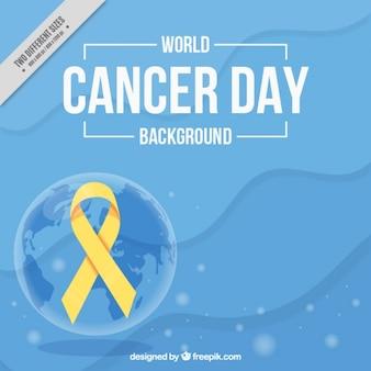 Fondo abstracto del día mundial contra el cáncer