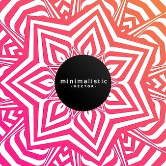 Fondo abstracto minimalista con diseño floral