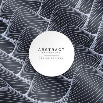 Fondo abstracto negro con olas