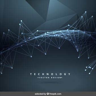 Fondo abstracto negro de tecnología