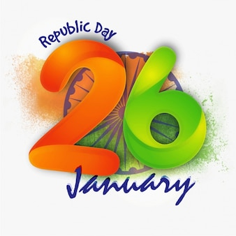 Fondo abstracto para el día de la república de la india