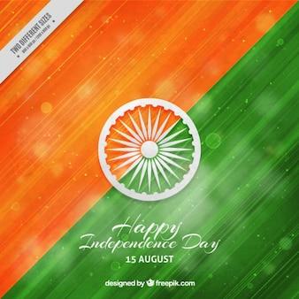 Fondo abstracto pintado a mano del día de independencia de india