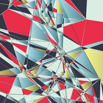Fondo abstracto poligonal, efecto roto