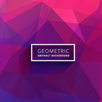 Fondo abstracto poligonal morado y rosa