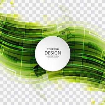 Fondo abstracto tecnológico verde