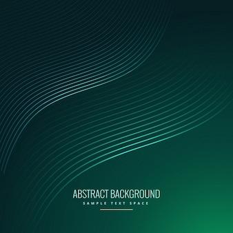 Fondo abstracto verde con ondas