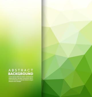 Fondo abstracto verde poligonal