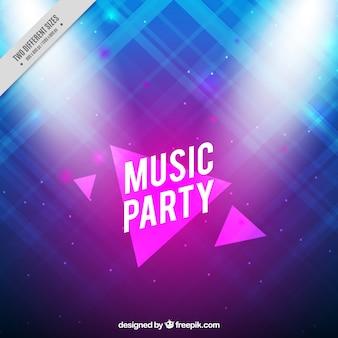 Fondo abstracto y brillante de fiesta de música
