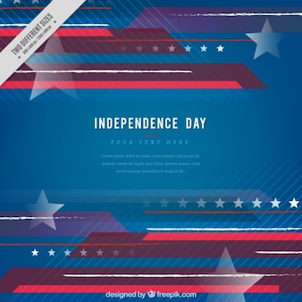 Fondo abstracto y moderno del día de independencia con líneas y estrellas