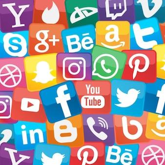 Fondo acerca de las redes sociales