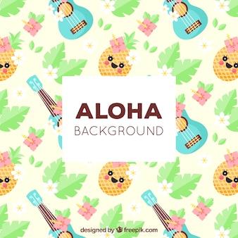 Fondo aloha con patrón