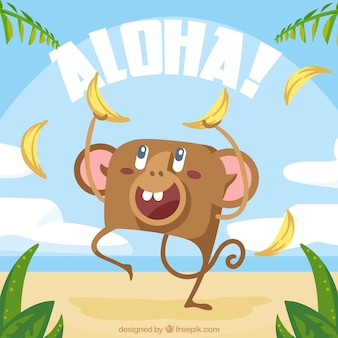 Fondo aloha mono