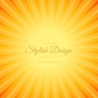 Fondo amarillo con rayos de sol