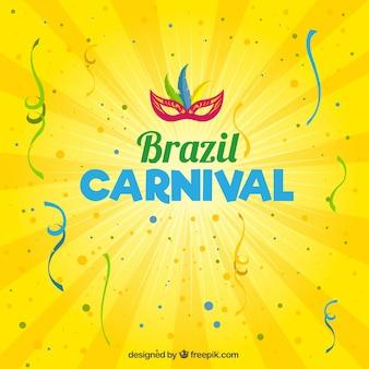 Fondo amarillo de carnaval de Brasil