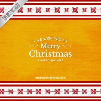 Fondo amarillo de navidad en acuarela