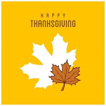 Fondo amarillo para el día de acción de gracias