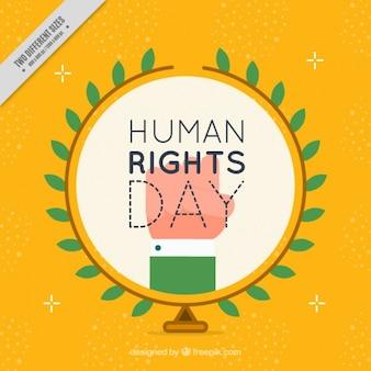 Fondo amarillo por la lucha de los derechos humanos