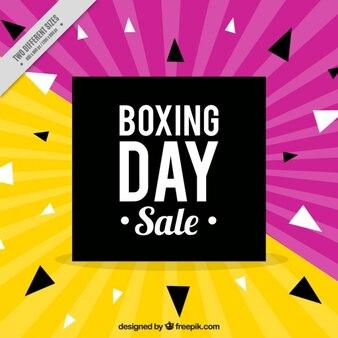 Fondo amarillo y morado del boxing day