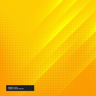 Fondo amarillo y naranja con puntos de semitono