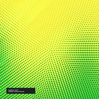 Fondo amarillo y verde con puntos de semitono