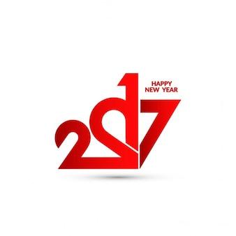 Fondo año nuevo con números rojos