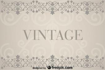 Fondo antiguo con decoraciones florales retro