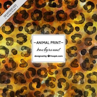 Fondo artístico de acuarela de leopardo