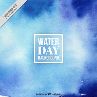 Fondo azul abstracto agua día