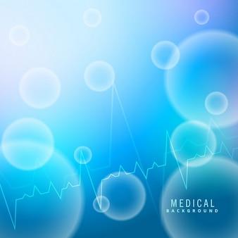 Fondo azul acerca de la ciencia médica