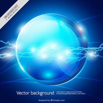 Fondo azul brillante con esfera