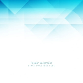 Fondo azul claro poligonal