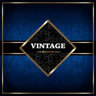 Fondo azul con diseño vintage