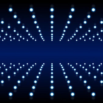 Fondo azul con estructura de luces