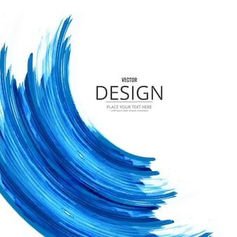 Fondo azul de acuarela con forma de ola