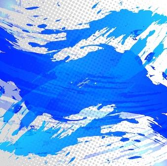 Fondo azul de acuarela con manchas