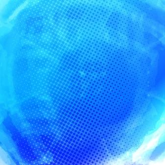 Fondo azul de acuarela con puntos
