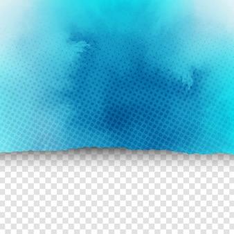 Fondo azul de acuarela estilo papel rasgado